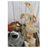 WOODEN GEESE, SHELLS, CANDLES, WELCOME SIGN, MISC.