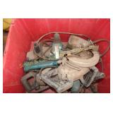 TUB of OLD ELECTRIC TOOLS