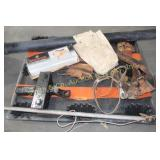 RECEIVER HITCH , CLAY TARGET THROWER, ROD HOLDER,