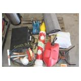 MAIL BOX, GAS CAN, BRICK CASES, ASH BUCKET, MISC.