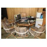 COMPUTER & MONITOR, TABLE & CHAIRS,