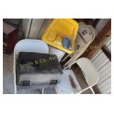 JOHN DEERE SEAT, METAL CHAIRS