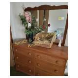 DRESSER WITH MIRROR, ICE CHESTS,