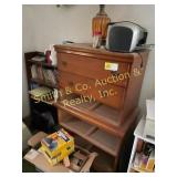 CHEST OF DRAWERS, BOOK CASE, BOOKS, MISC.