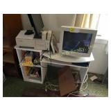 COMPUTER AND DESK, DDVD PLAYER, MISC
