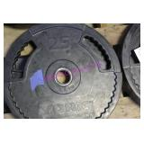 LOT, 4X 25 LB WEIGHT PLATES