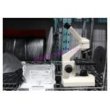 1X, OMAX BIOLOGICAL MICROSCOPE W/ 72 PCS SLIDES