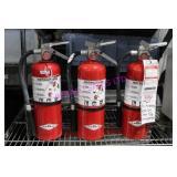 LOT, 3X AMEREX (B500) DRY CHEM. FIRE EXTINGUISHERS