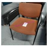 LOT, 6 STRIPED STACKING CHAIRS