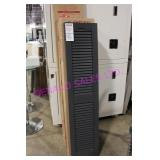 LOT, 6 BOXES (12 PCS) OF PLASTIC SHUTTERS *SEE