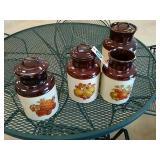 Antique cookie jar set