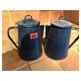 set of 2 coffee kettles