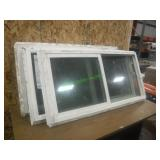"3 Vinyl Windows w/ Screens 48"" X 24"""
