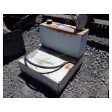 L- Shaped Fuel Tank w/ Hand Pump