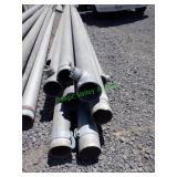 """10- 8"""" Aluminum Main Line w/end Risers *BID X 10*"""