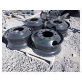 4- 10 Hole Hub Pilot Steel Wheels