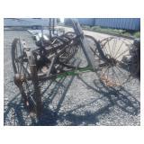Antique Steel Wheels Hay Rake