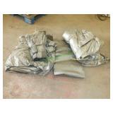 4 Nylon Tarps: Various Sizes