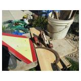 Vintage Hand planes, Sye, Slow Sign, Pail of Items