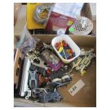 Box of Elec. Items & Box of Plumbing Items & MIsc