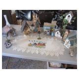 Bird House Collection & Doilie