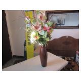 Standing Flower Vase & Flowers