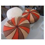 Hand Knit Round Pillows