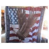 USA Eagle Throw & Southwest Throw Blankets