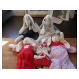Home made stuffed rabbits