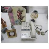 Phone, Magnetic note holder & misc. Items