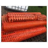 6 Rolls of Plastic Orange Snow Fence Appox 300ft