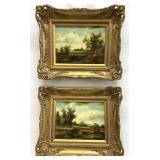 Pair of Antique/Vintage Landscape Oil Paintings