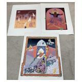 Three Modern Art Prints
