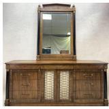 Hollywood Regency Style Dresser w/ Wall Mirror