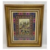 Original Persian Painting on Slag Glass - The Hunt