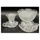4pc Beautiful ABP(?) Cut Glass Bowls