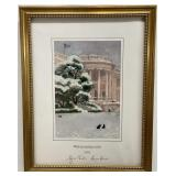 George & Laura Bush Signed Holiday Art Print