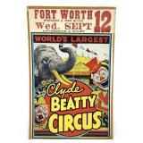 Vintage Circus Poster Clyde Beatty