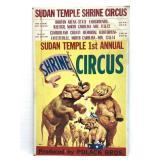 Vintage NC Sudan Temple Shrine Circus Poster