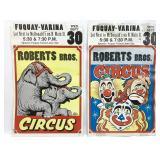 Pair of Vintage NC Circus Posters