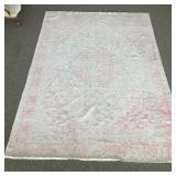 8ft 10in x 12ft Pink/Ivory Rug