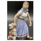 Antique Copenhagen Garden Girl Porcelain Figurine
