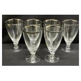 Set of 6 Silver Rimmed Stems