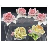 6 Porcelain Flowers