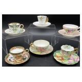 6 tea cups handpainted Japan