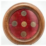 Antique / Vintage Coins in Walnut Frame