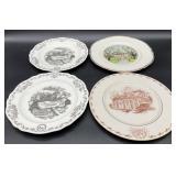 4pc Collectible Porcelain Plates Incl. Tryon