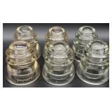 6pc Glass Insulators