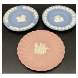 3pc Wedgewood Jasperware Plates