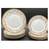 11pc Raphael Weill & Co Decorative Plates